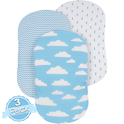 Bassinet Sheet Set | REGULAR BLUE CLOUDS by BaeBae Goods