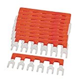 #8: uxcell 10PCS 600V 25A 6mm Pitch 6P Terminal Strip Barrier Black for PCB Board Red