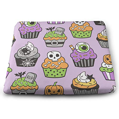 HzLyll Perfect Outdoor/Indoor Halloween Fall Cupcakes Square Cushion-Home Fashions 13.7