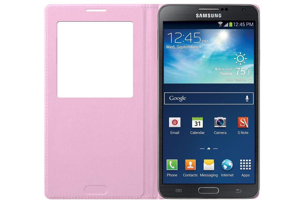 Samsung Galaxy Note 3 Case S View Flip Cover Folio - Soft Pink