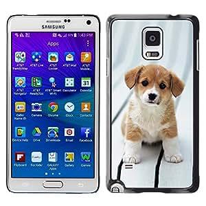 TopCaseStore / la caja del caucho duro de la cubierta de protección de la piel - Beagle Puppy Dog Brittany Canine - Samsung Galaxy Note 4 SM-N910