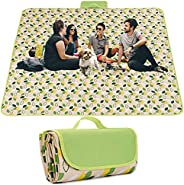 Outdoor Picnic Blanket, Sandproof and Waterproof Beach Blanket, Outdoor Picnic Mat with Handle for 2-7 People