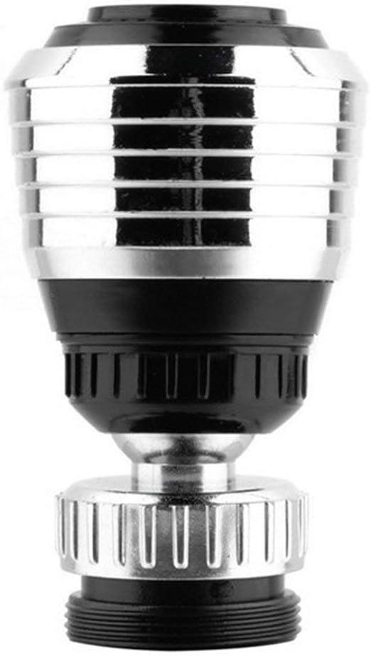 ngzhongtu Grifo Giratorio de 360 /° Difusor de Extremo Giratorio Dispositivo de Adaptador de Ahorro de Agua Filtro de v/álvula de ba/ño de Ducha antisalpicaduras para Uso dom/éstico Plateado y Negro