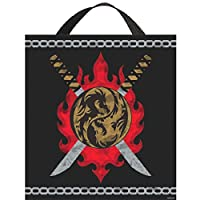 "Awesome Birthday Ninja Treat Bag Party Favour, Fabric, 14"" x 13"""