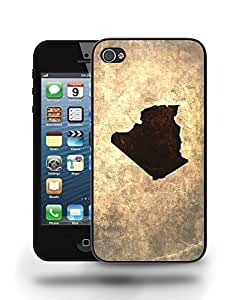 Algeria National Vintage Country Landscape Atlas Map Phone Case Cover Designs for iPhone 4