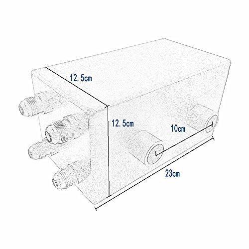 Heinmo Oil Catch Can Kit Breather Tank 4 Port Series for Honda Civic Integra EK EG DC by Heinmo (Image #5)