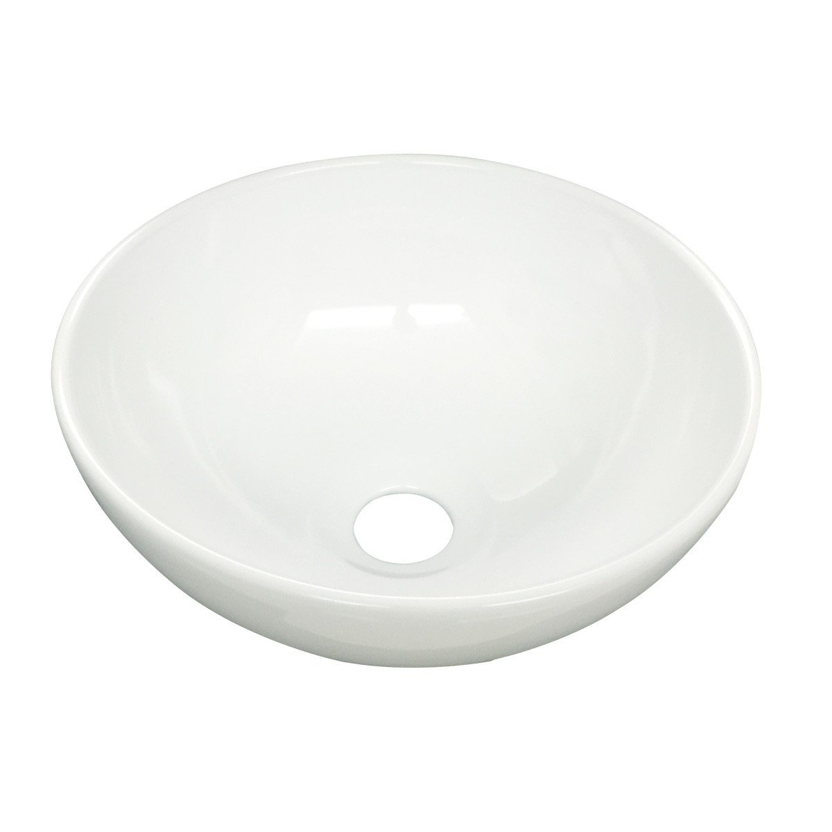 Small Mini Round Above Counter Vessel Bathroom Sink White Porcelain With Grade A Vitreous China Finish 11.25 Inch Diameter Renovator s Supply
