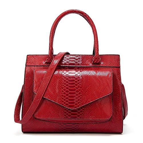 Fashion Fashion Women Wild Snake Design Bag Atmosphere Pattern New Lady Simple Shishanyun Red Big PXwiuOkZT