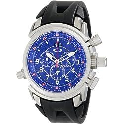Oakley Men's 10-060 12 Gauge Chronograph Brushed Blue Watch