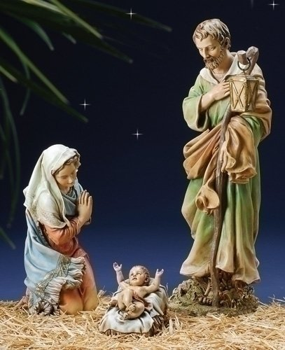 27'' Scale Color Holy Family 3 Pc Set; 6.25''H X 27.5''H by Roman