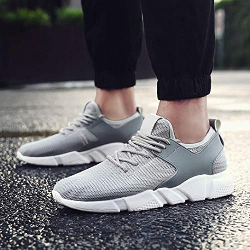 Solid Stripe Autumn Gym Color Running Cross Women Shoes Winter Luoluoluo Fashion Sports Ventilation Casual Shoes Shoes Gray Tied BqvIxwq7O