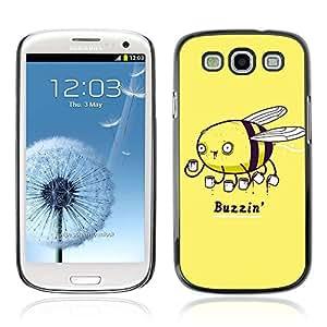 A-type Arte & diseño plástico duro Fundas Cover Cubre Hard Case Cover para Samsung Galaxy S3 III / i9300 i717 ( Café divertido Buzzin Bee Ilustración )