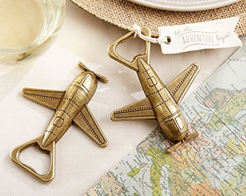 84 ''Let the Adventure Begin'' Airplane Bottle Openers