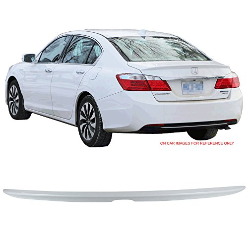 Pre-painted Trunk Spoiler Fits 2013-2016 Honda Accord | Factory Style Painted #NH788P White Orchid Pearl ABS Trunk Boot Lip Spoiler Wing Deck Lid Other Color Available By IKON MOTORSPORTS | 2014 2015