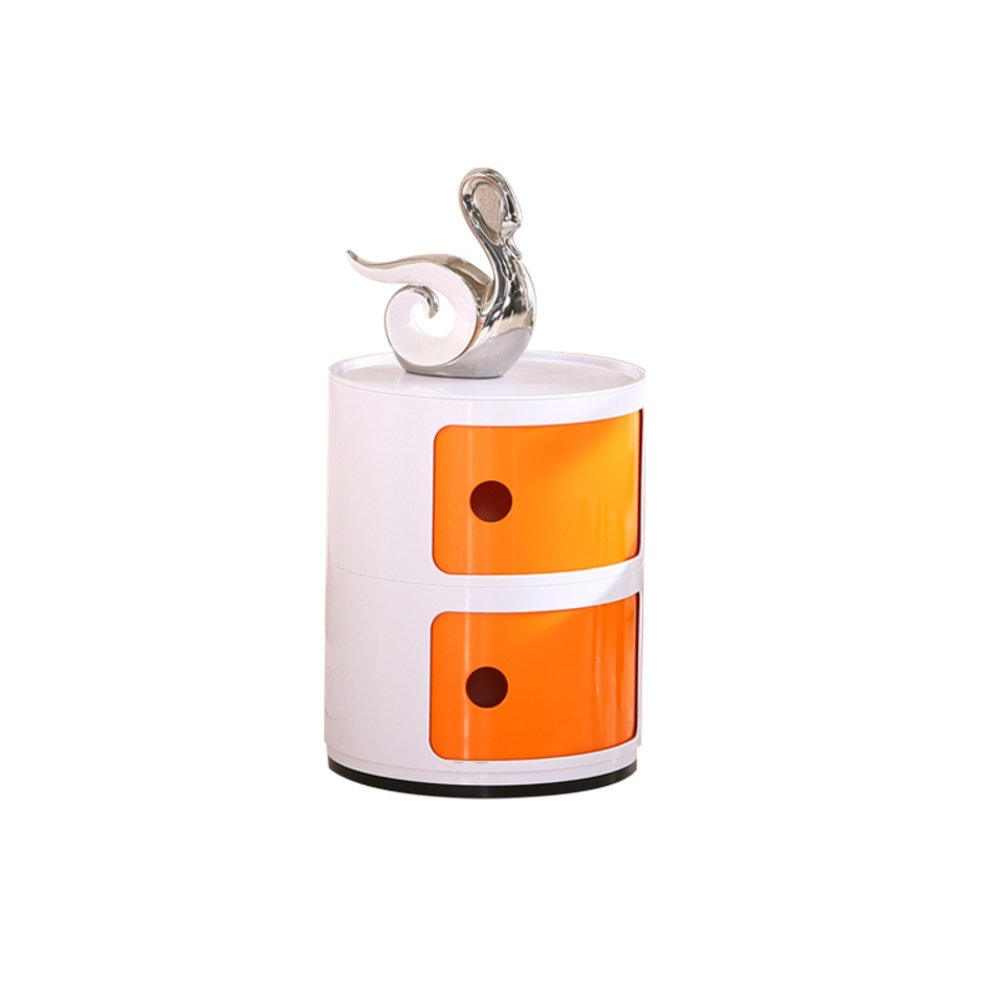 Simple modern,Multi-Function round plastic storage cabinet mini bedside cabinet bedroom corner cabinet locker-C