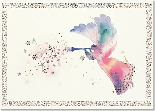 Price comparison product image Watercolor Angel Deluxe Boxed Holiday Cards (Christmas Cards, Greeting Cards)
