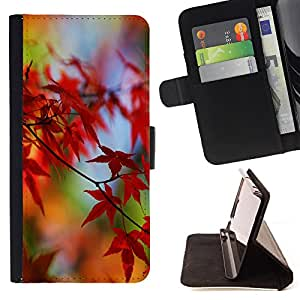 - Maple Leaf CANADA - - Monedero pared Design Premium cuero del tir?n magn?tico delgado del caso de la cubierta pata de ca FOR HTC Desire 820 Funny House