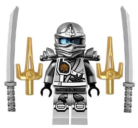 Amazon.com: Nueva Lego Ninjago Ninja Minifig Zane – Figura ...