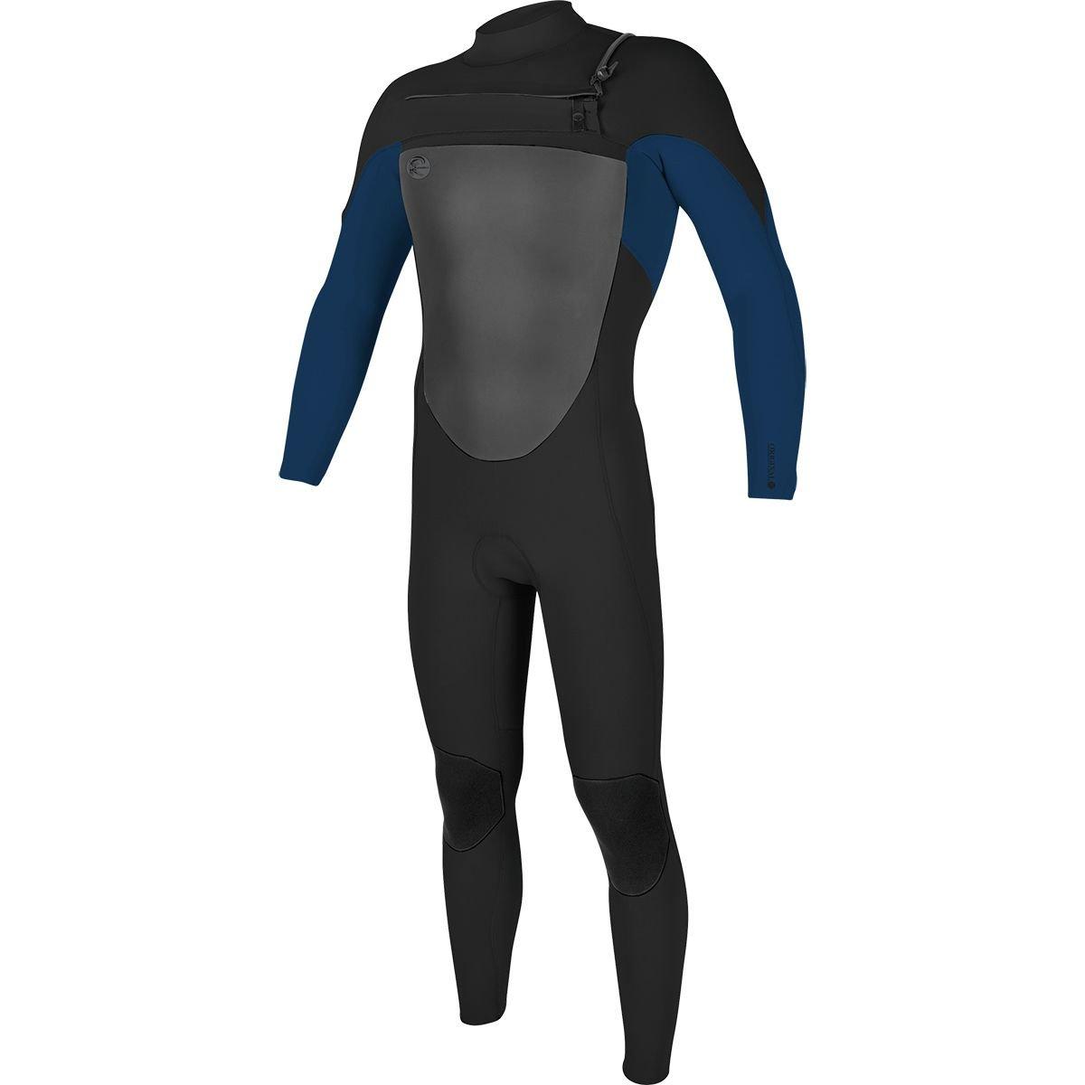 O'Neill Men's O'Riginal 3/2 mm Chest Zip Full Wetsuit, Black/Deepsea, X-Small