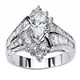 Fashion Rings for Women Size 7,Fashion Hand Jewelry Cut Diamond Engagement Anniversary Ring Jewelry,Silver,6#