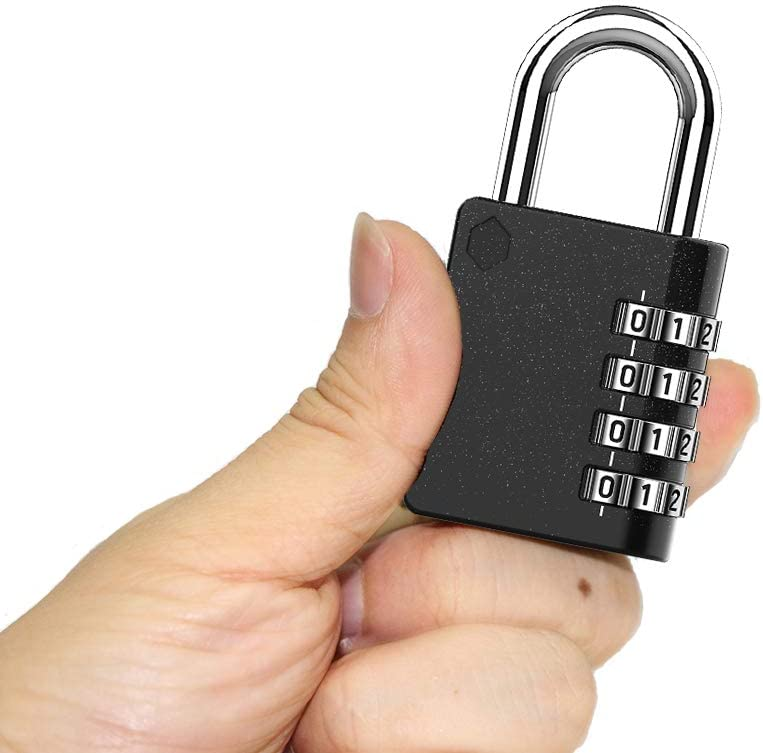 2 Pack Gate Hasp Cabinet BeskooHome 4 Digit Resettable Combination Lock for School Waterproof Padlocks Combination Padlock Outdoor Shed Locker Security Lock Gym New Version
