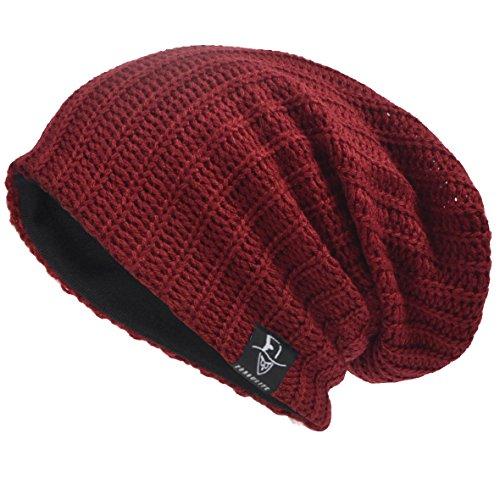 Men's Cool Cotton Beanie Slouch Skull Cap Long Baggy Hip-Hop Winter Summer Hat B305 (Long Beanie Cap)