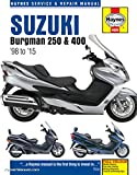 H4909 1998-2015 Suzuki Burgman 250 400 Scooter Repair Manual by Haynes