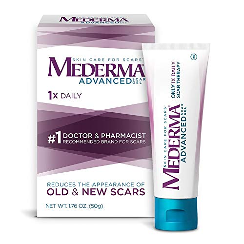 Mederma Advanced Scar Gel - 1x Daily - Reduces the Appearance of Old & New Scars - #1 Doctor & Pharmacist Recommended Brand for Scars - 1.76oz. (Best Treatment For Red Nose)