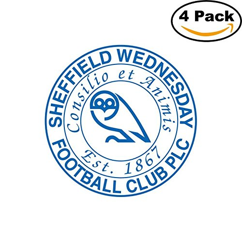 fan products of Sheffield Wednesday FC(32) Soccer Football FC Decal Logo 4 Stickers 4X4