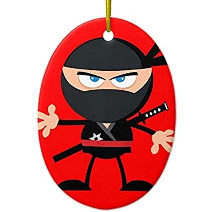 Amazon.com: Cheyan Cartoon Ninja Warrior Red Metal Ornament ...