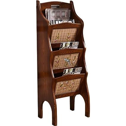 Bookcases Bookshelf Wooden Magazine Rack Retro Magazine Rack Office Floor  Rack Wooden Creative Storage Rack Multi