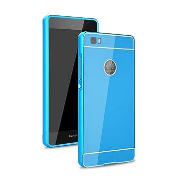 YULEAN® Huawei P8 Lite Funda, Duro Híbrido Carcasa Metal ...