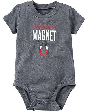 Carter's Baby Boys' Grandma Magnet Bodysuit
