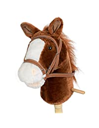 Horse Stick With Sound Toy Stuffed Animal Horse Stick 36 Inches Dark Brown By HollyHOME BOBEBE Online Baby Store From New York to Miami and Los Angeles