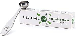 Matcha Green Tea Measuring Spoon/Scoop by PureChimp - 1g Serving - Metal/Stainless Steel