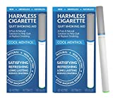 Natural Quit Smoking Remedy / Stop Smoking Aid To Help Quit Smoking / Therapeutic Quit Smoking Product / Best Stop Smoking Product / Easy Way To Quit / Harmless Cigarette (2 Pack, Cool Menthol)