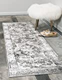Unique Loom Monaco Collection Traditional Vintage Gray Home Décor Runner Rug (2' x 7')