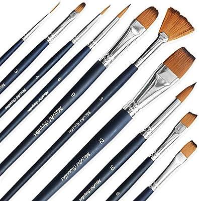 MozArt Supplies Estuche de Pinceles Essentials para Pintura de ...