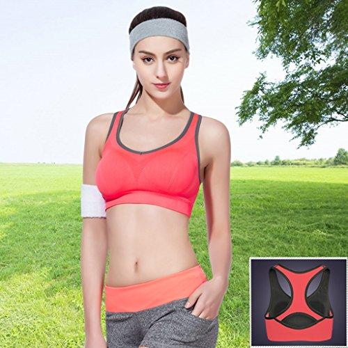 Deportes Ropa interior Mujer A prueba de golpes Correr Juntar No Trace Chaleco Verano Delgado Sección No Rims Bra #1
