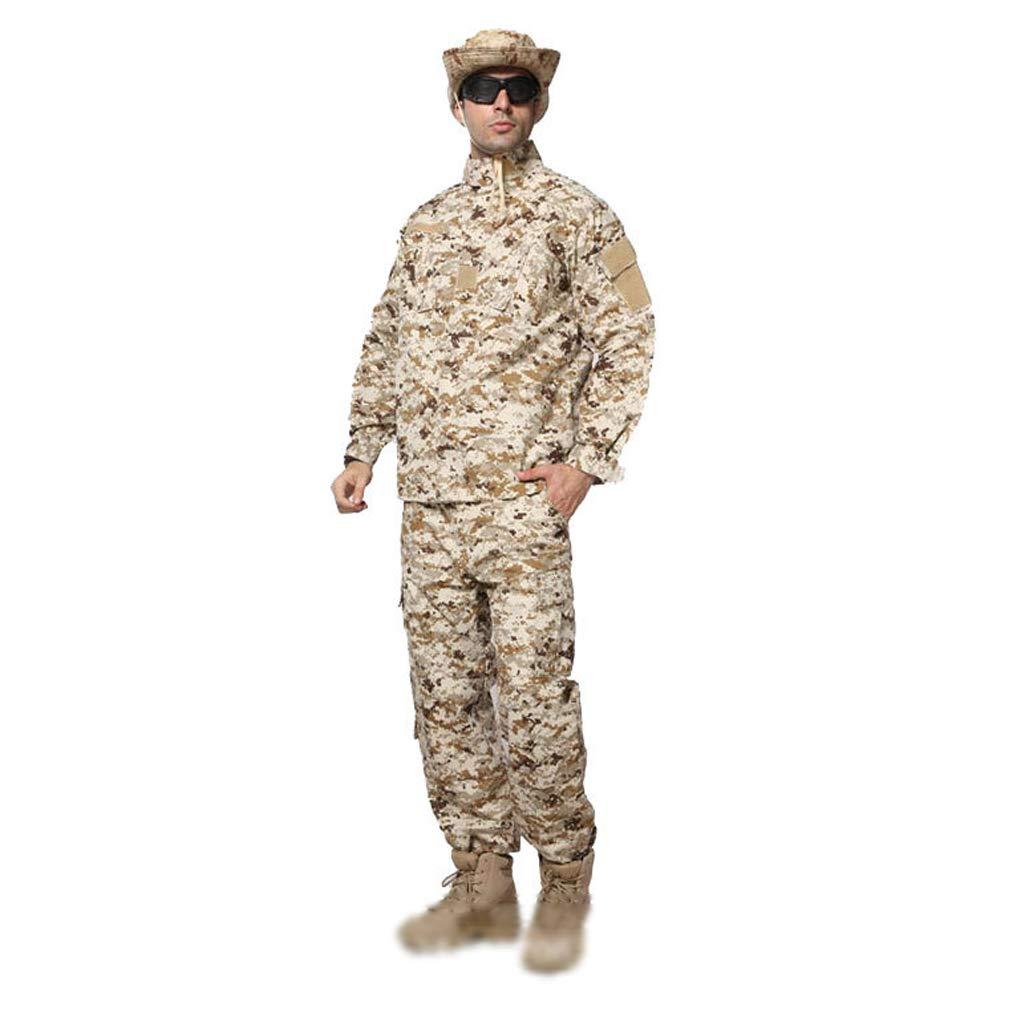 男性の戦術的なスーツ、迷彩戦闘スーツ2ピーススーツ快適なトップスとジャングルのためのスリムなズボン隠し狩猟スポーツクライミング乗馬トレーニングユニフォーム (色 (色 : サイズ ACU, サイズ さいず : XL XL/180-185/90kg)/180-185/90kg) B07PCRDB2N Desert S/170-175/65kg S/170-175/65kg|Desert, サクラク:8fff137e --- ijpba.info
