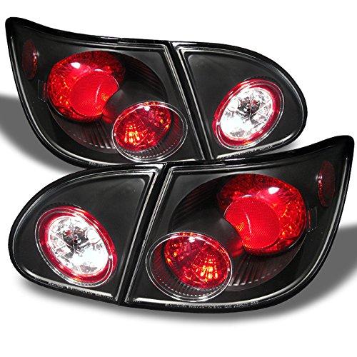 For 2003-2008 Toyota Corolla Black Altezza Tail Lights Rear Brake Lamp w/Trunk Piece 4Pcs