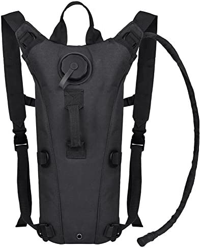 ETCBUYS Hydration Backpack – 2.5L Liter Water Pack and Waterproof Tactical Hydration Pack for Running, Hiking, Cycling, Camping, Hunting, Biking, Festivals, Themed Parks and Prevents Dehydration