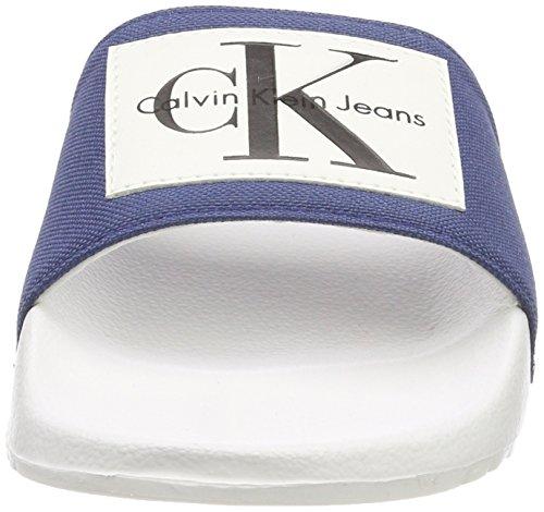 Bout Sandales Jeans stb Klein Ouvert Nylon Chloe Femme 000 Bleu Calvin FXqOxSwx