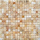 MS International 5/8 In.x5/8 In. Honey Onyx Polished Mosaic Tile - Box of 5 sqf