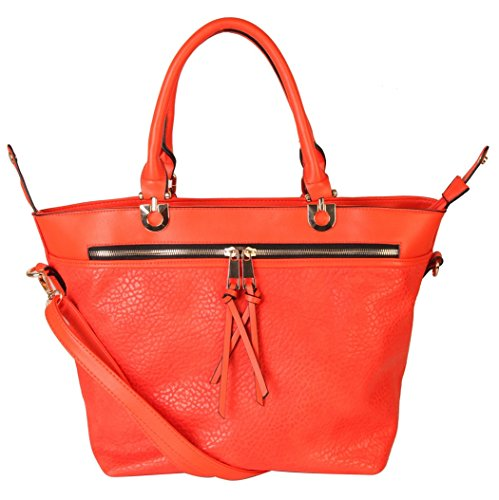 rimen-co-pu-leather-front-zippered-pocket-deformable-tote-womens-purse-handbag-s7-2655-red