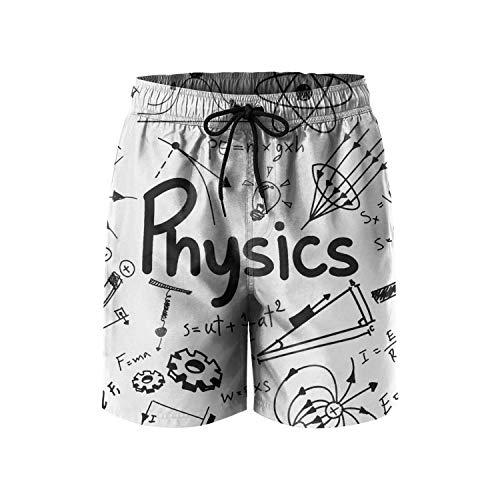 Quantum Boardshorts - Men's Boardshorts Physics Science Theory Math Equation Quick Dry Bathing Suits Mesh Lining Beach Board Shorts