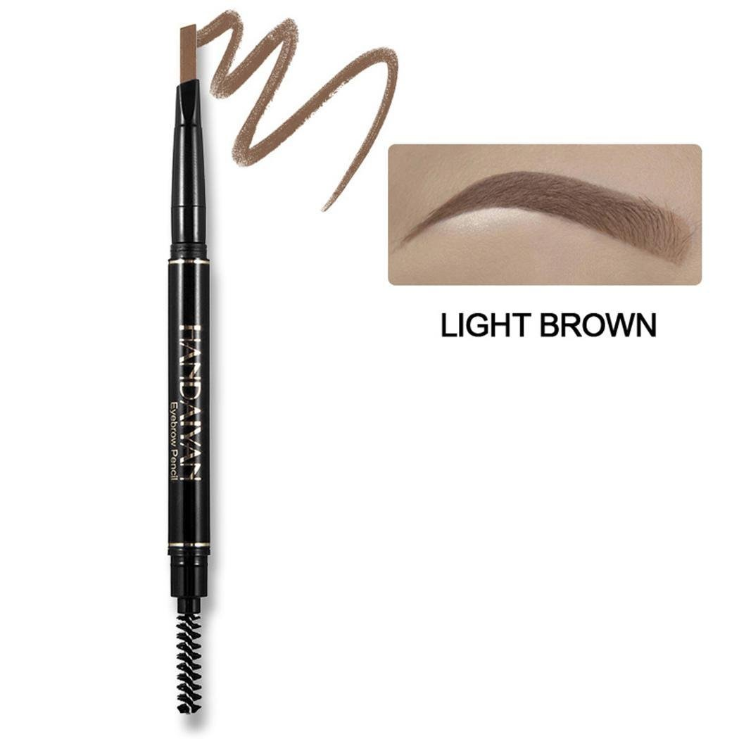Oplon Women Waterproof Automatic Eyebrow Pencil Eye Makeup Tool with Brush Liner & Shadow Combinations