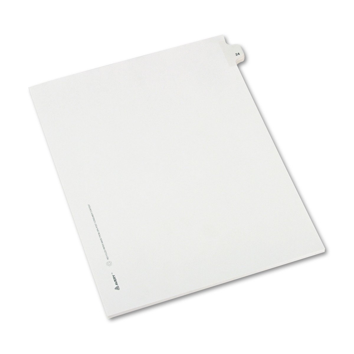 Avery Individual Legal Exhibit Dividers, Allstate Style, 24, Side Tab, 8.5 x 11 inches, Pack of 25 (82222)