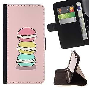 Momo Phone Case / Flip Funda de Cuero Case Cover - Bonne Rose Vert Art mignon - Samsung Galaxy E5 E500