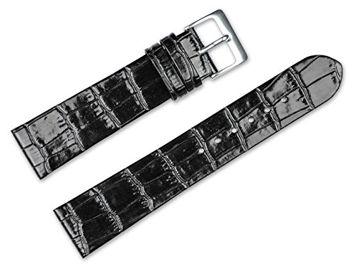 16mm-replacement-leather-watch-band-alligator-grain-flat-black-watch-strap